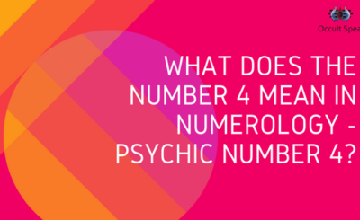 What does the number 4 mean in numerology -Psychic Number 4