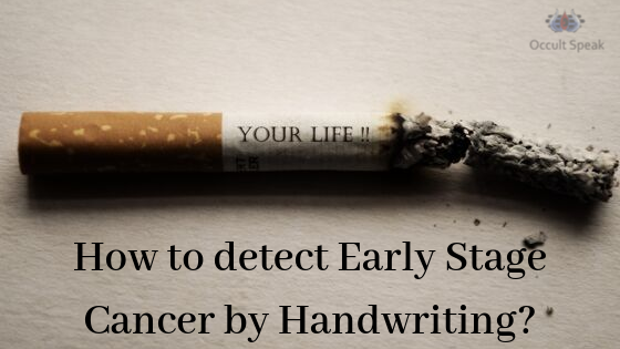 How to detect Early Stage Cancer by Handwriting?