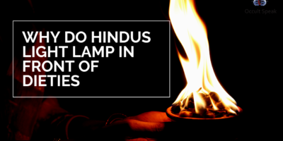Why do Hindus light a lamp in front of Deities?